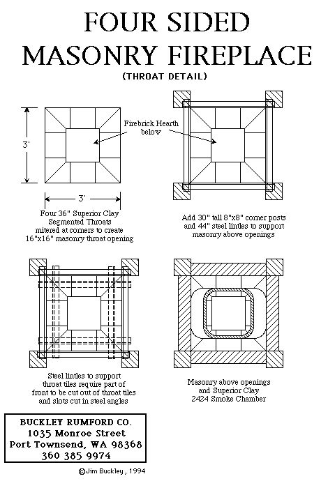 Multi Sided Fireplace Plans Amp Instructions