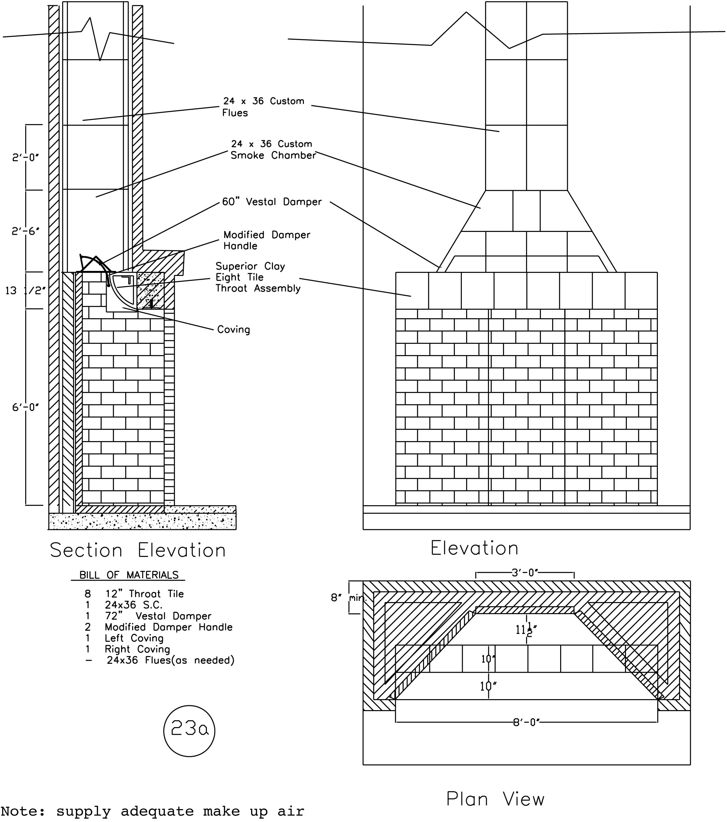 Rumford Fireplace Plans Instructions: fireplace plans