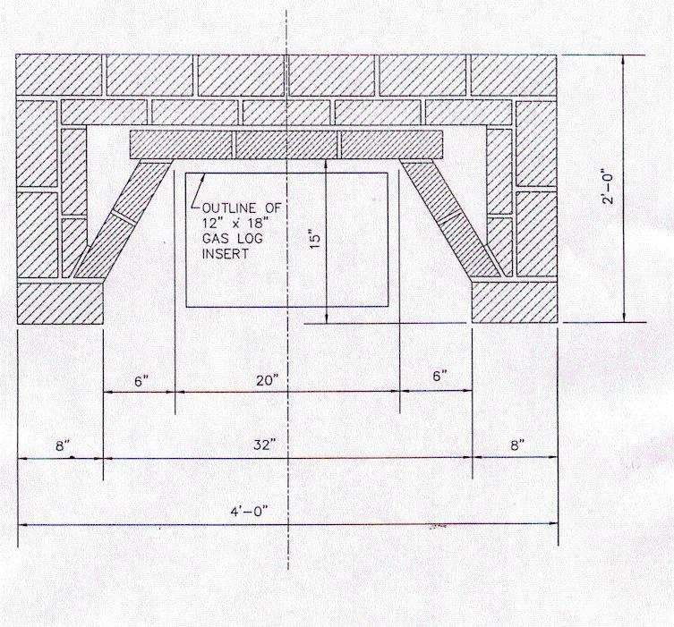 Masonry Fireplace Construction Drawings Fireplace Ideas