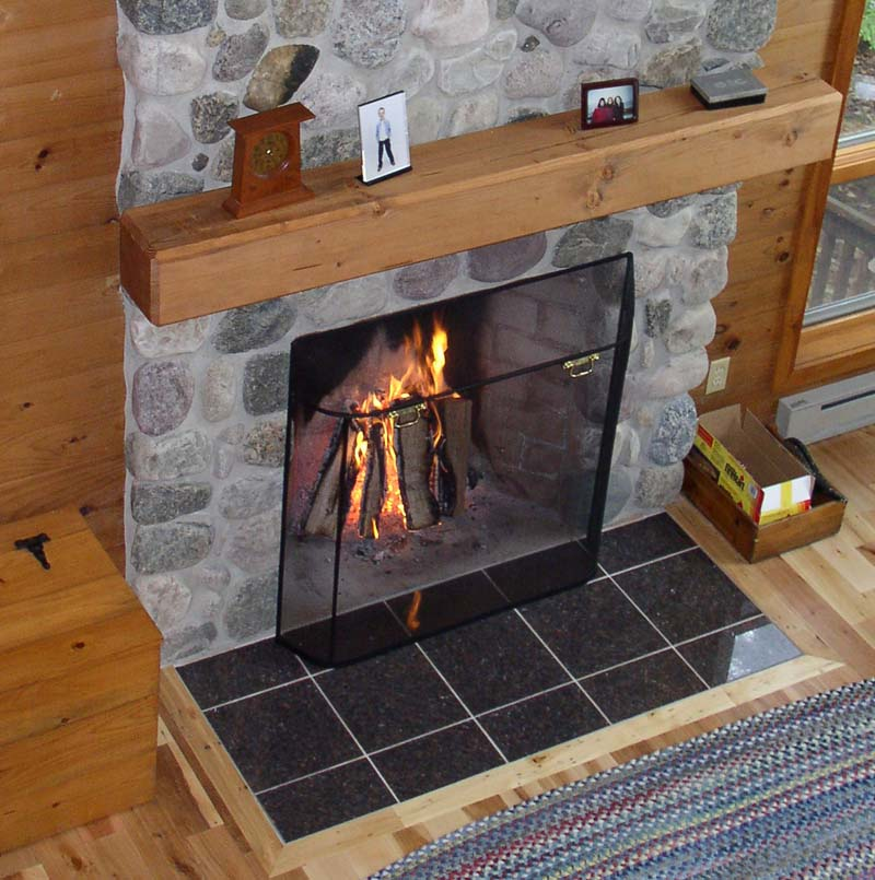 fireplace spark screens guard screen page htm