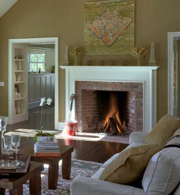 Brick rumfords for Rumford fireplace insert