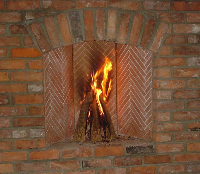Fireplace Design fireplace firebox : Herringbone Firebox Pictures