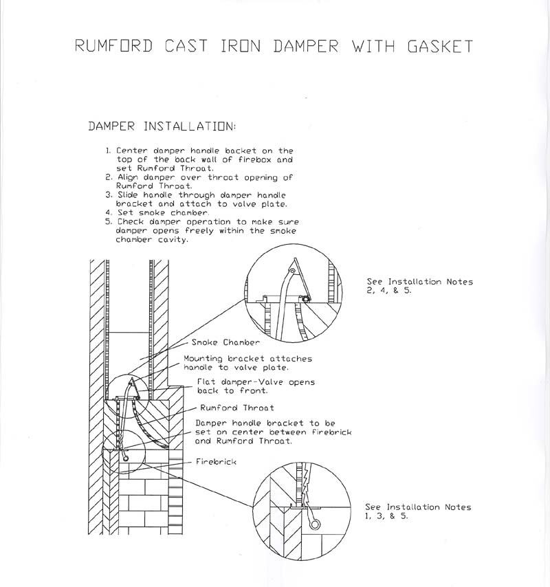 Cast Iron Rumford Damper Installation